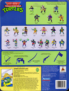 """MUTANT MILITARY 2"" TEENAGE MUTANT NINJA TURTLES ::  KOOKIE KAVALRY LEO ..card backer ii (( 1992 ))"