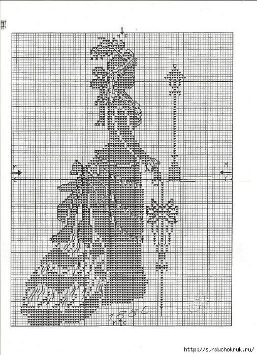 Вышивки крестом схемы одним цветом
