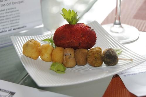 """Restaurante Migaea con el pintxo """"Los siete enanitos"""" en el IV Concurso Pintxos de Cine CineGourland"""