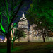 Night time in Austin - The Capitol and its mysteriously green trees