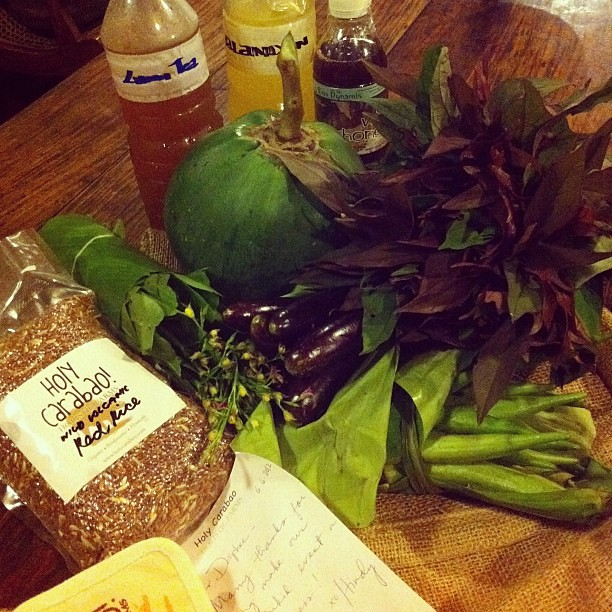 Hindy sent me a thank you package from Holy Carabao holistic farms. Lovely!