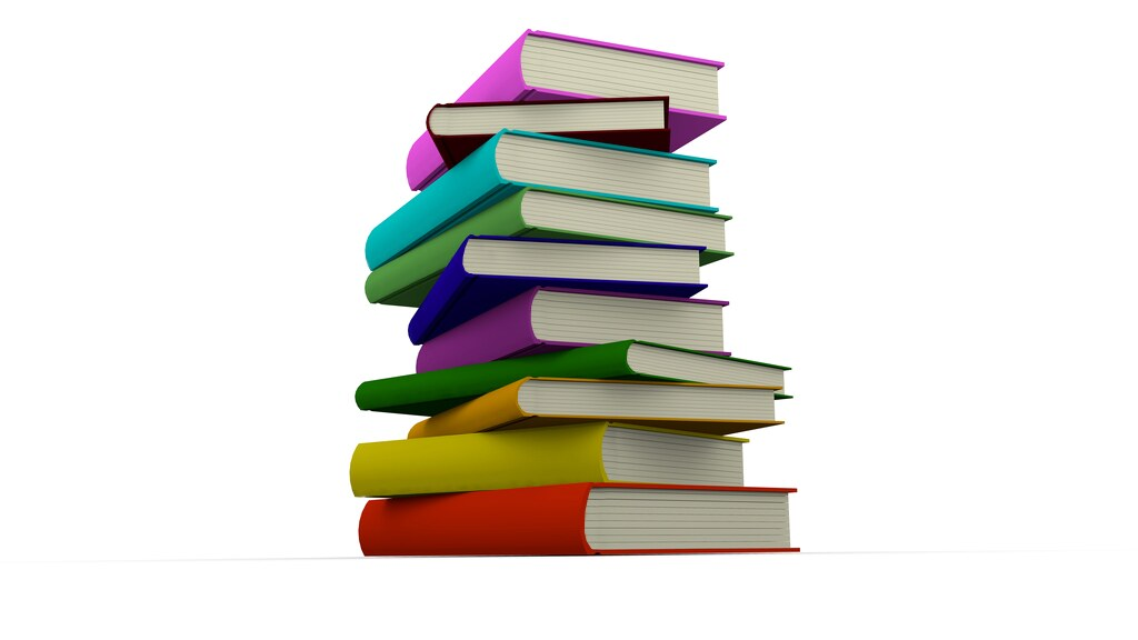 Colorful Books Stacked (Blender)   A staple of books
