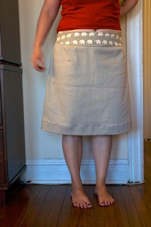 Elephant-waist (wearable muslin) skirt!