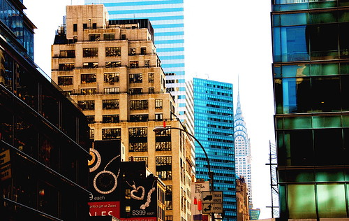 Downtown, New York- Juxtaposing Buildings