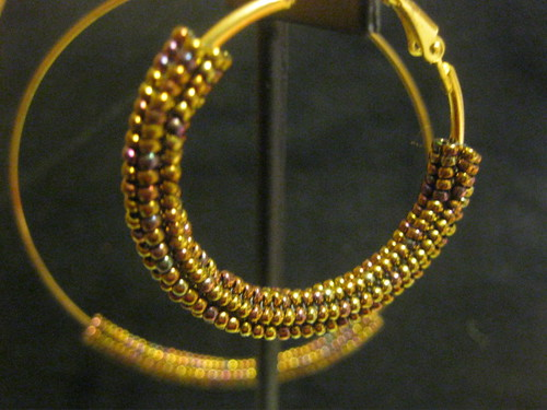 Metalic Small Hoop Earrings by MS_KIZZI