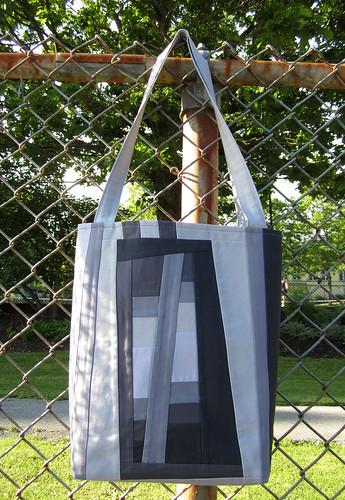 grey tote bag improv side