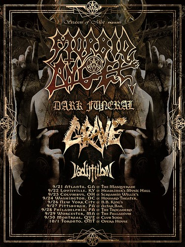 Morbid Angel Tour Poster