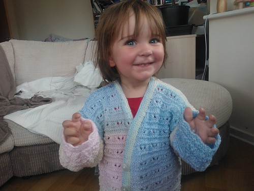 Mersina and her new cardigan