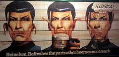 Mr Spock from Star Trek trying beer, Siena, Italy