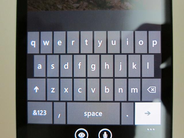 Nokia Lumia 900 - Keyboard