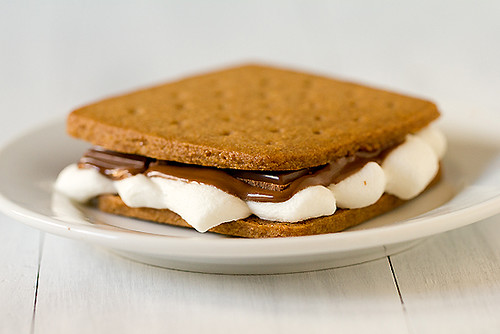 S'mores built on homemade graham crackers