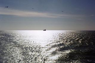 Sunny sea off Norfolk VA