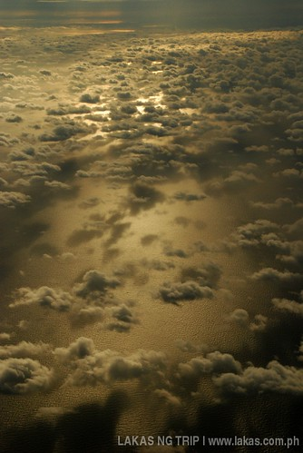 Sea of clouds above the sea