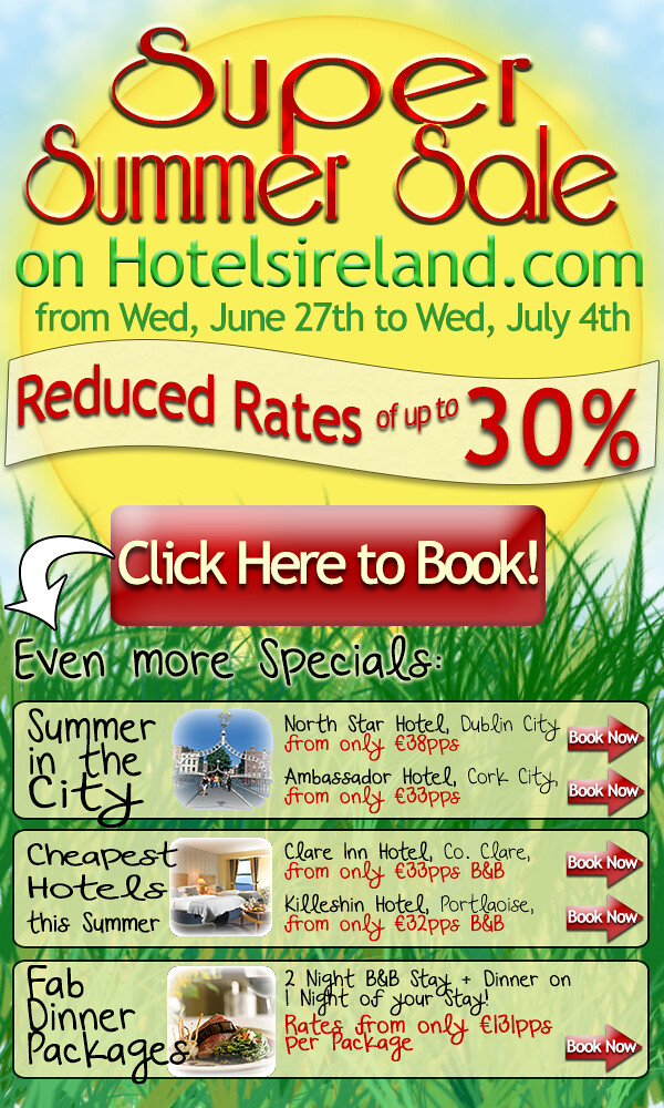 Super Summer Sale on Hotelsireland.com