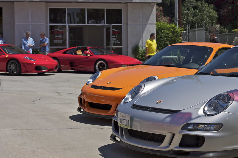 Porsche 997 GT3, GT3RS, Ferrari F430, 355