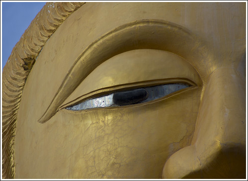 Buddha eye at Wat Bang Riang