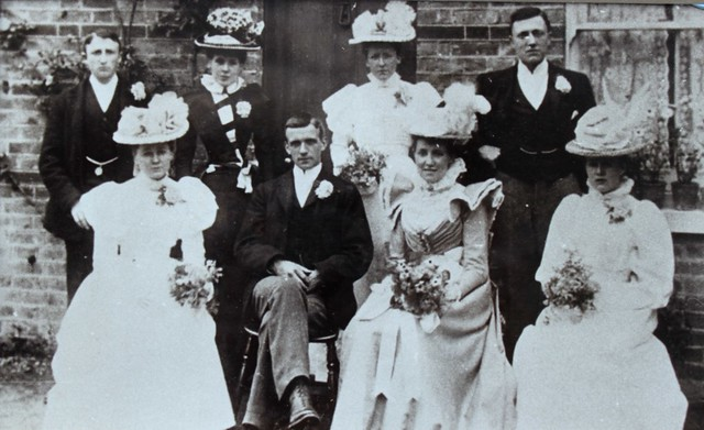 My Great granparents wedding 25th June 1898 Ernest Squire and Alice emma Jackson.