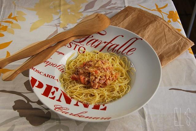 Spaghetti à la vodka