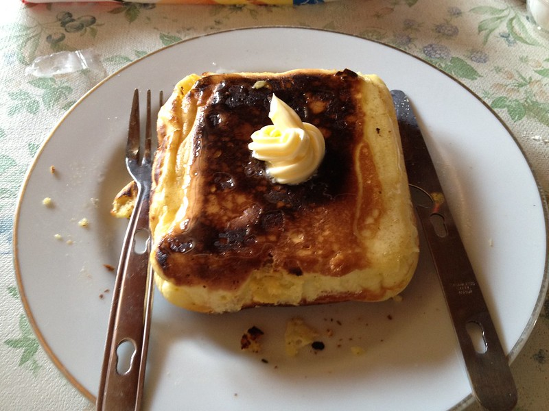 コッヘルで作ったホットケーキ