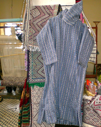 A Jellaba made from the cooperative's weaving