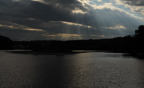God's Rays over Mohawk River, Waterford NY - CTW_2736