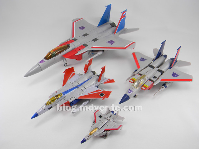 Transformers Starscream Masterpiece MP-11 - modo alterno vs otros Starscream G1