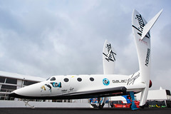 Full Size Virgin Galactic SpaceShipTwo Replica. Photo by Mark Chivers