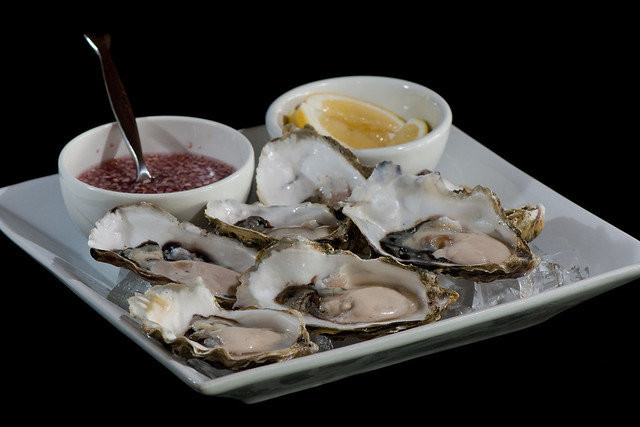 Fanny Bay Oysters with Horseradish Mignonette