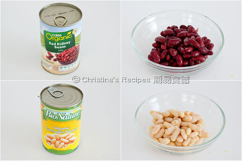 有機紅腰豆和白腰豆 Organic Red Kidney Beans and Organic Cannellini Beans