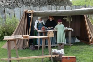 Rahseglertreffen Vorbereitungen - Für die Verpflegung der Besucher wurde gesorgt - Stand von Kim Nyborg - Museumsfreifläche Wikinger Museum Haithabu WHH 12-07-2012