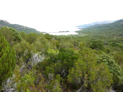 Remontée de Porto Novo W à la RN 198 : l'étang et la plage de Porto Novo W