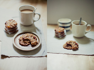 fruit maple oat cookies