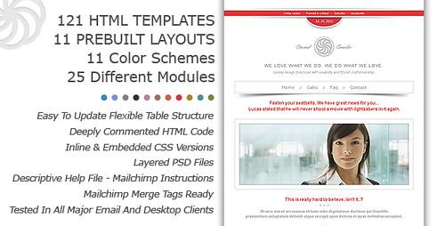 Eternal Emailer Premium email newsletter marketing templates