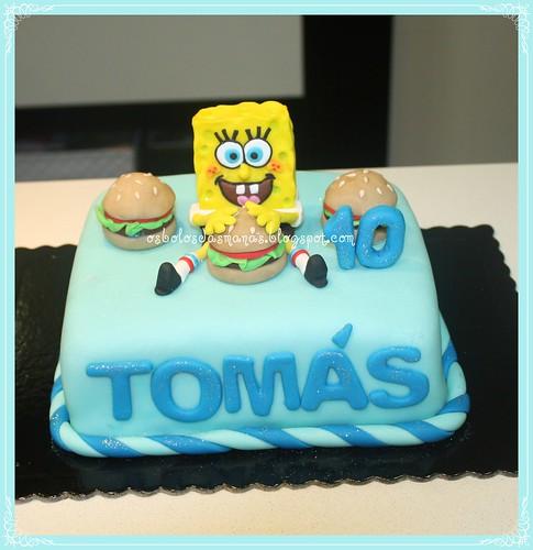 Bolo Sponge Bob 3 by Osbolosdasmanas