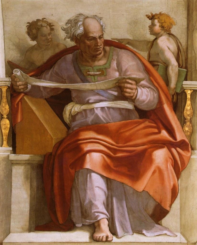 Sixtinische Kapelle, Michelangelo, Prophet Joel