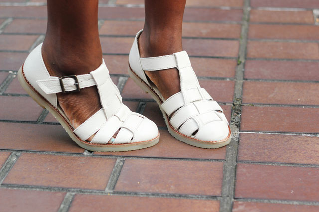 Office Repeat That White Leather Sandals