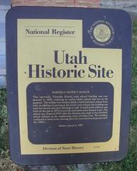Old Fairfield School Marker (Fairfield, Utah)