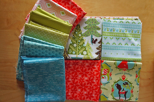 Vintage Holiday QAL fabric