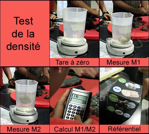 test de la densite - meteorite