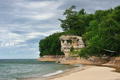 """Chapel Rock""  Pictured Rocks National Lakehsore by Michigan Nut"