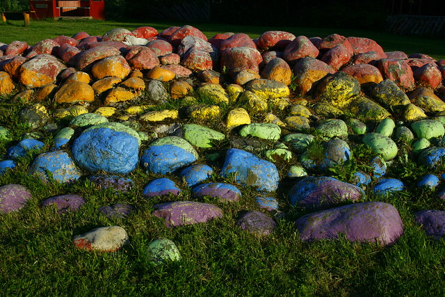 The Rainbow Pile of Rocks!