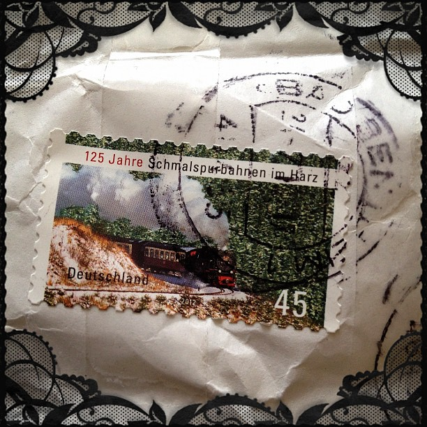 #stamp #train #postmark #germany