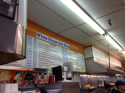 White House Subs Menu