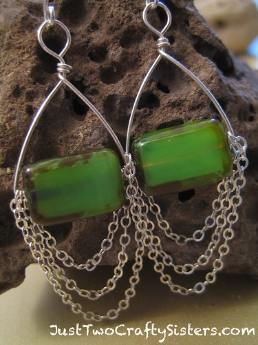 Kiwi Green Earrings