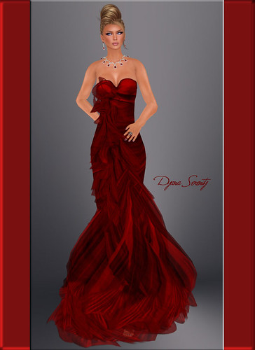 Paris METRO: Couture Frill of It- Ruby Gown II by Dyana Serenity