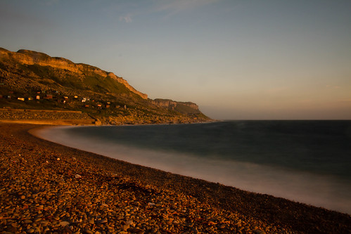 Chesil Cove sunset 1-8-12 010
