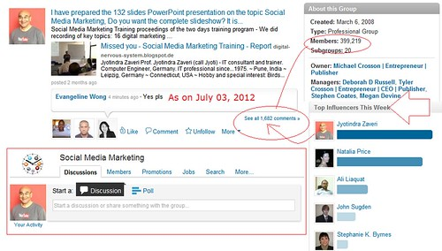 LinkedIn marketing.  LinkedIn.com algorithm finds Jyotindra Zaveri as Top Influencer - for two months continuously