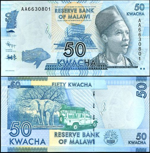 50 Kwacha Malawi 2012