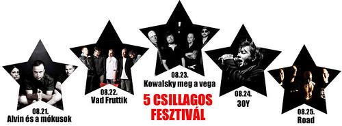 5 csillagos fesztivál
