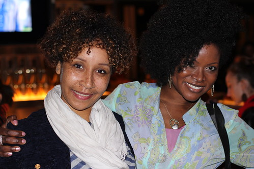 Dominga Martin & Abiola Abrams at Black Enterprise Magazine 40/40 Party
